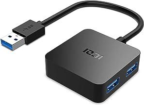ICZI Hub USB 3.0 de 4 Puertos USB 3.0 , Adaptador usb 3.0 con Conector Niquelado de Alta Velocidade de Transmisión - Negro