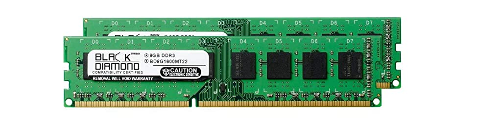 小川番号宅配便16GB 2X8GB RAM Memory for ASRock Motherboards X79 Extreme4 DDR3 DIMM 240pin PC3-12800 1600MHz Black Diamond Memory Module Upgrade