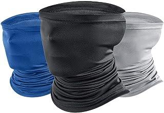 ZoneYan Huvudbonader pannband, 3 st multifunktionell bandana bred, nytt solskydd tyg, sömlös magisk halsduk tub scarf UV i...