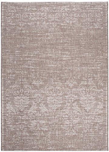 Carpeto Sisal Teppich Taupe 80 x 150 cm Vintage Muster Flachgewebe Sisal Kollektion