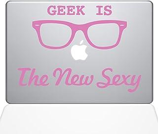 "The Decal Guru Geek is the New Sexy MacBook Decal Vinyl Sticker  - 15"" Macbook Pro (2015 & older) - Pink (1066-MAC-15P-BG)"