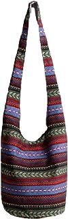 KARRESLY Bohemian Cotton Hippie Crossbody Bag Hobo Sling Bag Handmade Messenger Shoulder Bags