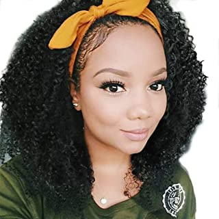 Curly Afro Wig Half Wig Curly Black Wig Afro Kinkys Curly Hair Wig Synthetic Heat Resistant Wigs for Black Women