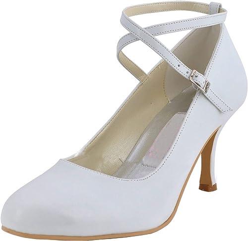 Qiusa MZ606 mujeres Open Toe Stiletto Heel Rhinstone Boda Nupcial Satén Correa Trasera Sandalia (Color   plata-9cm Heel, tamaño   6.5 UK)
