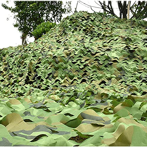 Hide Fotografia Woodland Camo Mesh Netting para la Caza la decoración Los Militares El Sombreado las Redes de Camuflaje Al Aire Libre la Neta Impermeable de la Camuflaje de la(Size:4×10m/13.1×32.8ft)