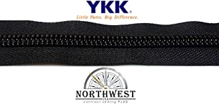 YKK #10 Zipper coil chain. Sold by the yard or in lots of 5 yards, 10 yards and 25 yards. (Black, 1 yard)