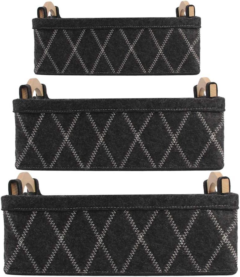 Japan Maker New N H Storage High quality Baskets Bins with 3 Set Recta Piece Handles Desktop