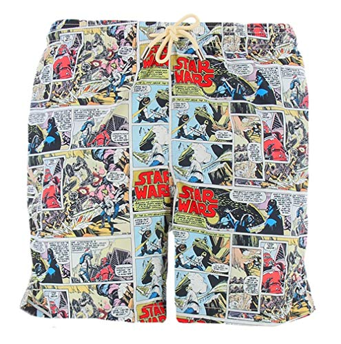 mc-safety MC2 Saint Barth Badehose Boxer Herren Lighting SW Comics - L