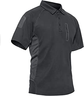 TACVASEN Men's Hiking Shirts 3 Buttons Quick Dry Performance Polo Short and Long Sleeve Athletic Top T-Shirt