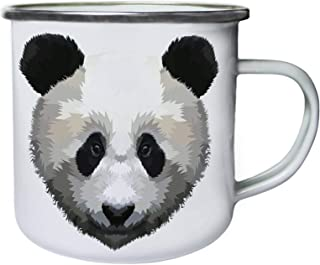 panda head geometrical pop art Retro, lata, taza del esmalte 10oz/280ml ii852e