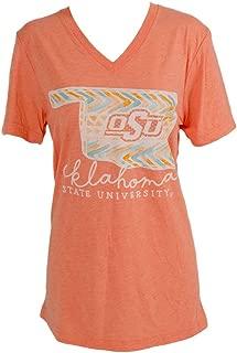 Calamity Jane Women's S/S V Tribal Watercolor OSU Shirt