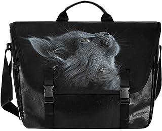 Adorable animal gato cartero de lona unisex 15.264 pulgadas, bolsa de hombro, bolso de mano