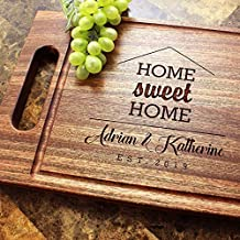 Personalized Engraved Cutting Board - Home Sweet Home, Housewarming, Closing, Real Estate, Realtor, Birthday Gift. 941