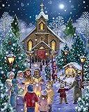 Vermont Christmas Company Midnight Mass Jigsaw Puzzle 1000 Piece