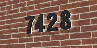 Homlux 8 Inch Upscale LED Modern House Number, Stainless Steel with Black Coating and Backlit House Number, Easy to Install, Rust&Corrosion Resistant, Luxury Illuminated Address Home Numbers(Black 8)