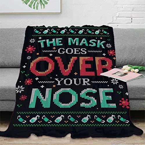 STTYE Manta polar de franela con flecos de pompón, ligera y acogedora, se puede utilizar como sábana de cama, manta de viaje, colcha de siesta diaria, incluso cojín de sofá.
