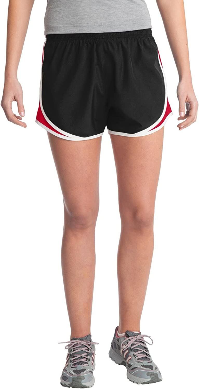 SPORT-TEK Women's Cadence Short M Black/True Red/White