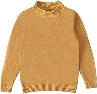 woshilaocai Toddler Kids Baby Boy Girl Winter Clothes Knit Sweater Shirt Long Sleeve Pullover Solid Crewneck Sweatshirt