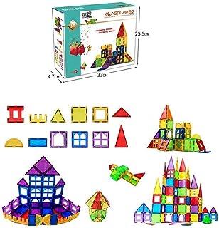 Magmetic Building Blocks 70 PIECE Tiles Clear Windows 3D Set Construction Creativity Imagination Educational Toys