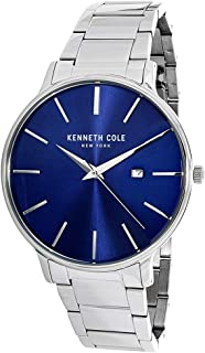 Kenneth Cole Men's Analogue Quartz Watch With Stainless Steel Strap Kc15059003, Silver Band