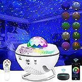 Alexa Proyector Estrellas, Ouyulong Proyector De Luz Estelar 4 en 1, Control De Aplicación (Alexa,Google Assistant, Smart Life), Bluetooth/Temporizador /360° Rotación/ 10 colores Proyector Galaxia
