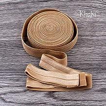 DDDCM 10 yards vouwbare 5/8 inch 15mm elastisch vouwbaar elastische band for hoofdband en hoofdband (Kleur : Khaki)