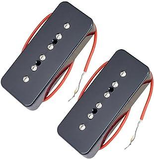 HOMYL Pack of 2 P90 Single Coil Guitar Neck&Bridge Pickups for Les Paul Replacement