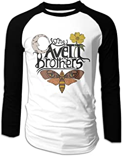 EVEKENNEDY The Avett Brothers Unisex Men's 3/4 Sleeve Raglan Cotton Baseball Tee Shirt Vintage T Shirt Tops