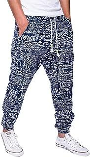 lexiart Mens Fashion Baggy Pants - Cotton Loose Harem Yoga Pants