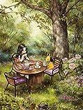 Bdgjln Puzzle 1000 Piezas-Chica de Picnic-Puzzle Difícil Y Desafiante,Grande Educativo Alivio del Estrés Relajante JuegoDivertidopa Adultos Niños-50x75cm