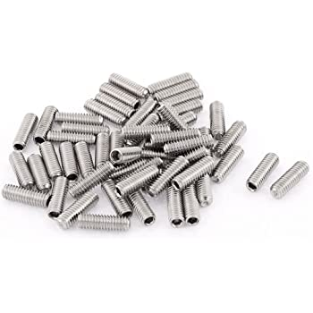 50pcs M3 Stainless Steel Cone Point Grub Bolts 4-20mm Hex Socket Set Grub Screws