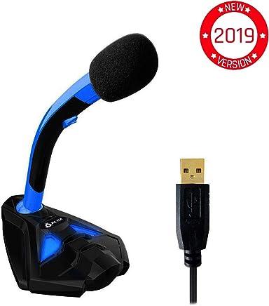 KLIM Voice Microfono Desktop USB con Stand per Computer Laptop PC - Microfono Gaming Videogiochi PS4 - Blu [ Nuova Versione 2019 ] - Trova i prezzi più bassi