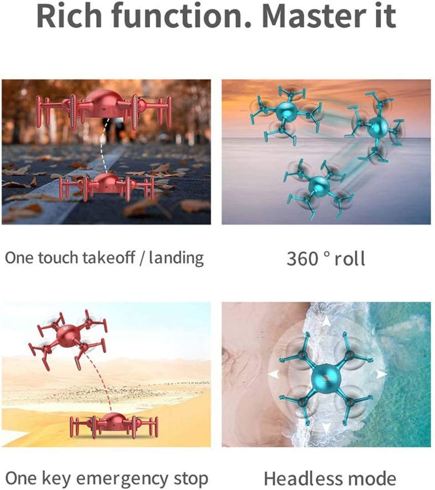 Afstandsbediening APP Aangepaste programmeerlichten Vierassige RC Drone Quadcopter Red