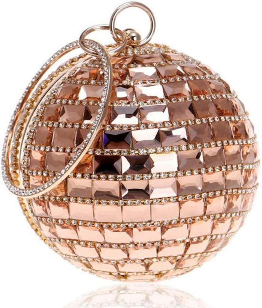 WSZJJ Mini Fashion Clutch Bag, Clutch Bag Ball Bag Banquet Dinner Dress Women Bag, Glass Drill and Polyester