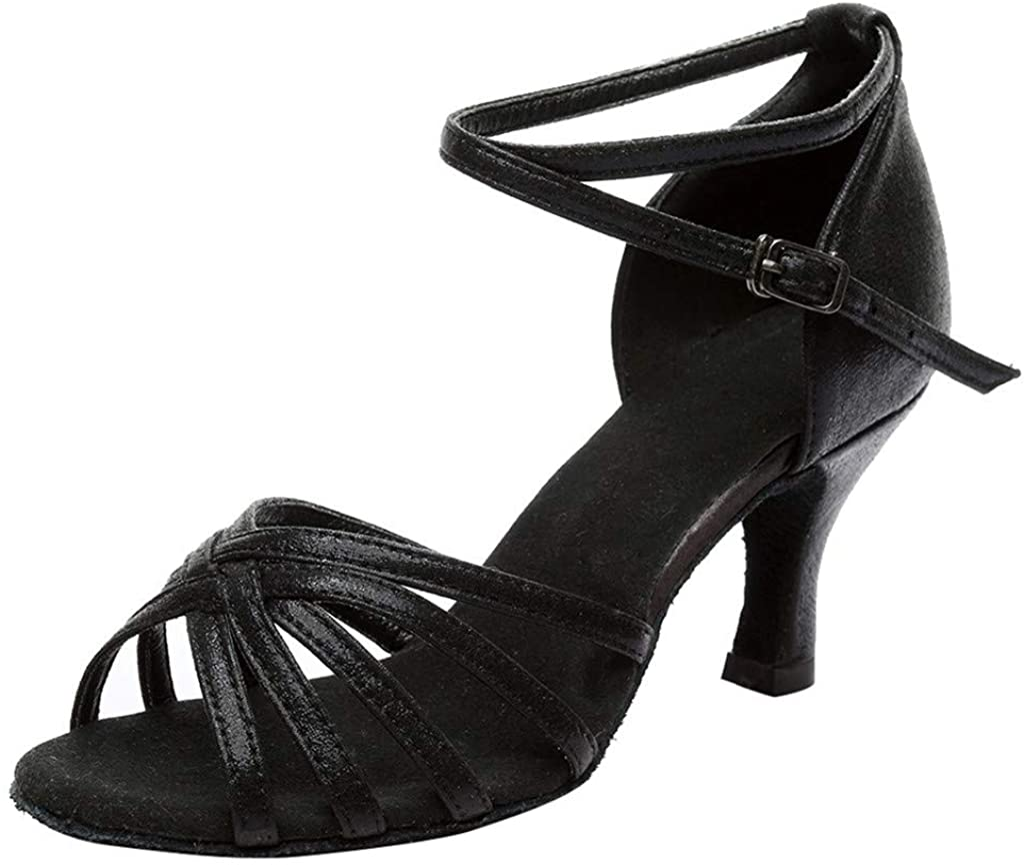 Women's Ankle Strap High Heels Dance Sandals Dancing Rumba Waltz Prom Ballroom Latin Salsa Dance Shoes Pumps