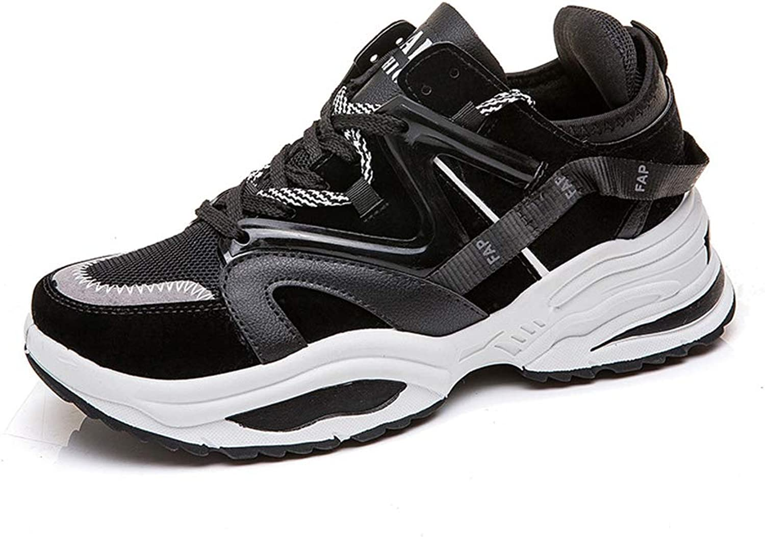 ZFLIN Sports shoes, Casual Sports, Running Men's shoes-black-38
