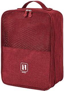 Resesskoväska, golfskoväska, kan kombineras med resväska, bärbar vattentät förvaring för skor (röd)
