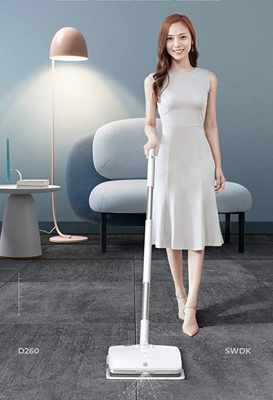 SWDK Electric Handheld Cordless Mop Floor Cleaning For Mopping All Surfaces Rechargeable Rubbing Frequency Up To 1000 Times Per Minute D260 Mop