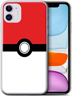 eSwish Gel TPU Phone Case/Cover for Apple iPhone 11 / Red Design/Pokeball Anime Inspired Collection