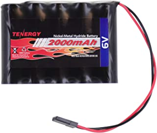 Tenergy NiMH Receiver RX Battery with Hitec Connectors 6V 2000mAh High Capacity Rechargeable Battery Pack for RC Airplanes/RC Aircrafts and More