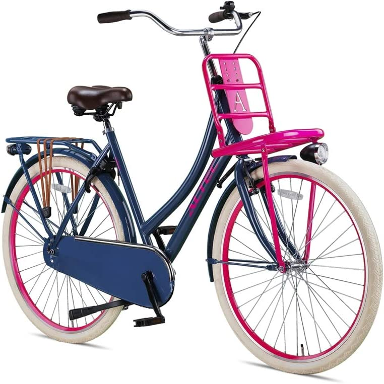 Damen Hollandrad 28 Zoll Hooptec grau-blau-Pink 50 cm