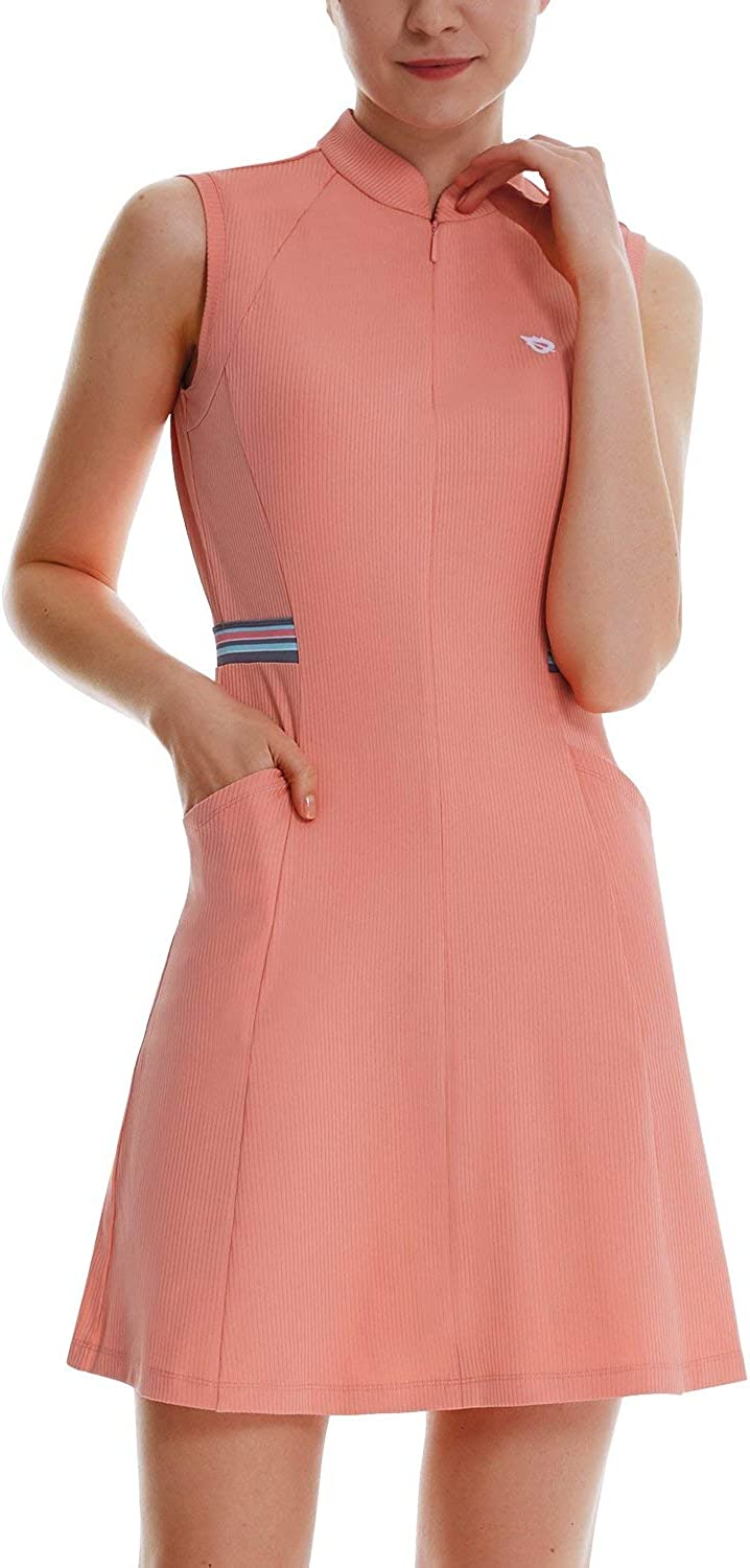 BALEAF Free shipping / New Women's Golf Tennis Dress Inner 4-Pockets with Sleeveless Popular products
