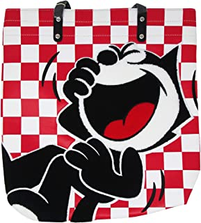 Loungefly x Felix the Cat Checkered Faux-Leather Tote Bag
