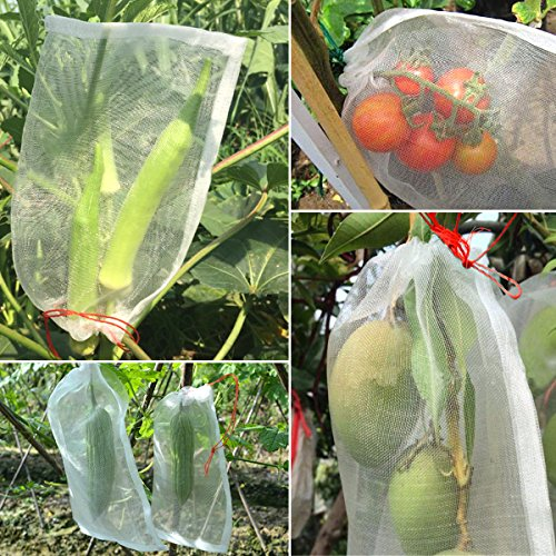 Agfabric Bug Net Bag Garden Netting Against Insects Birds Barrier Bags for Plant&Fruits 24