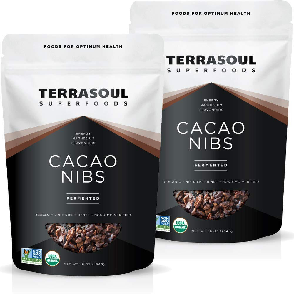 online shop Terrasoul Superfoods Raw Organic Cacao Nibs Ra Lbs - 2 Pack Ranking TOP11
