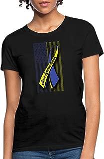 Down Syndrome Awareness Ribbon Flag Women's T-Shirt
