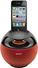 Sony RDPV20iPRED Speaker Dock for iPod and iPhone - Red photo