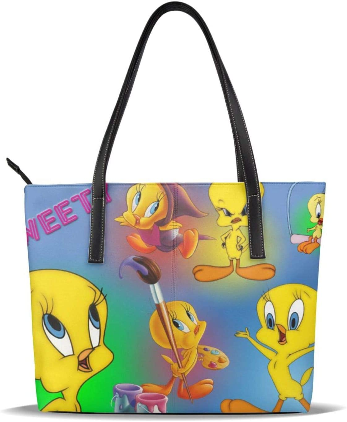 Cute Tweety Sales for sale Brand new Bird Leather Tote Bag Computer Shoulder Briefcas