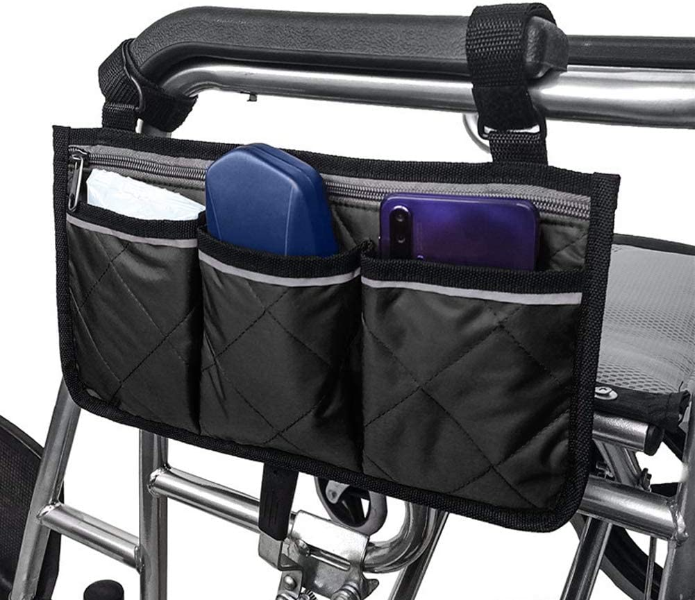 Wheelchair Side Bag Armrest Walker Pouch Large special price !! Large-scale sale Hanging Organiz Storage