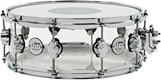 DW Design Series Clear Acrylic Snare - 5.5 Inches X 14 Inches